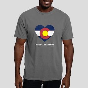 Colorado Flag Heart Pers Mens Comfort Colors Shirt