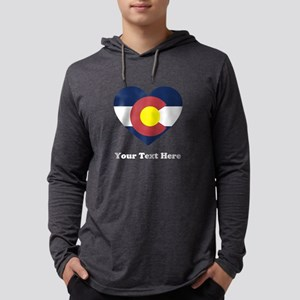 Colorado Flag Heart Personalized Mens Hooded Shirt