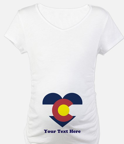 Colorado Flag Heart Personalized Shirt
