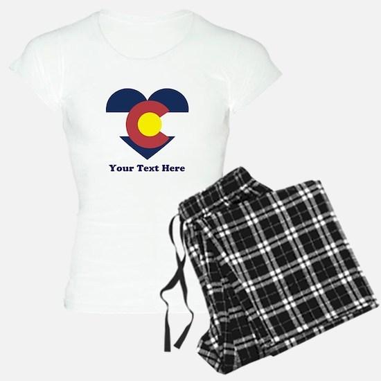 Colorado Flag Heart Persona Pajamas