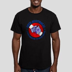 Dive Australia (rd) Men's Fitted T-Shirt (dark)