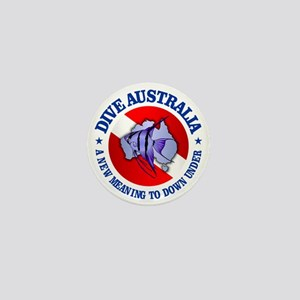 Dive Australia (rd) Mini Button