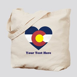 Colorado Flag Heart Personalized Tote Bag