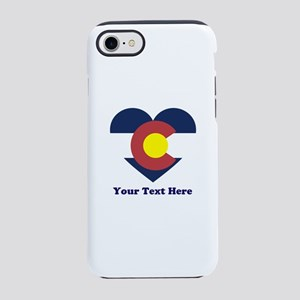 Colorado Flag Heart Personaliz iPhone 7 Tough Case