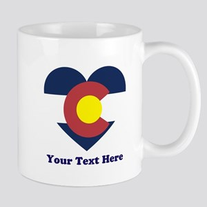 Colorado Flag Heart Personalized 11 oz Ceramic Mug