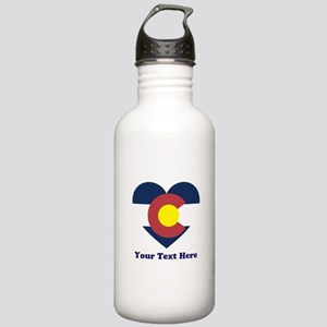 Colorado Flag Heart Pe Stainless Water Bottle 1.0L