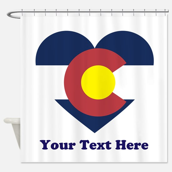 Colorado Flag Heart Personalized Shower Curtain