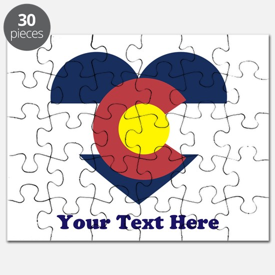 Colorado Flag Heart Personalized Puzzle