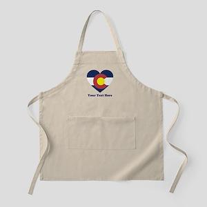 Colorado Flag Heart Personalized Light Apron
