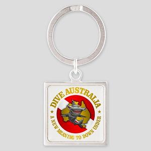 Dive Australia (hammerhead) Square Keychain