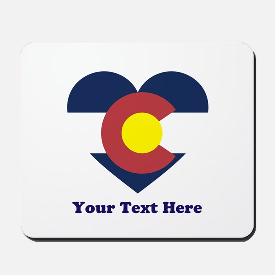 Colorado Flag Heart Personalized Mousepad