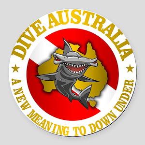 Dive Australia (hammerhead) Round Car Magnet