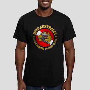 Dive Australia (hammer Men's Fitted T-Shirt (dark)