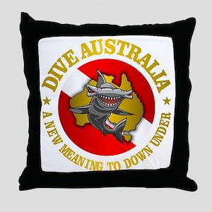 Dive Australia (hammerhead) Throw Pillow
