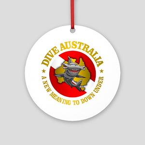 Dive Australia (hammerhead) Round Ornament