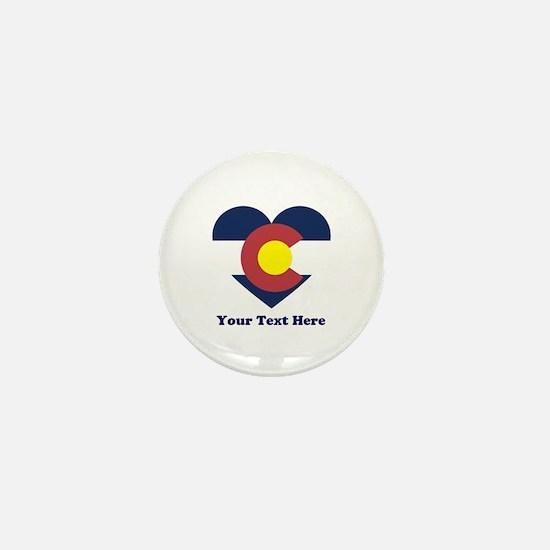 Colorado Flag Heart Personalized Mini Button