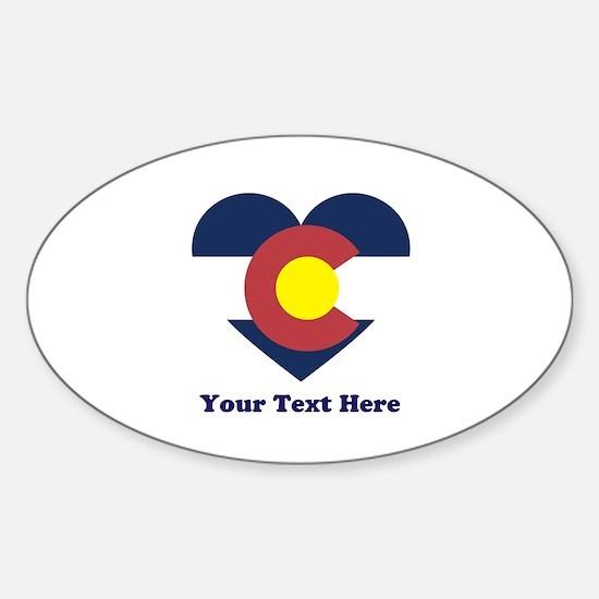 Colorado Flag Heart Personalized Sticker (Oval)