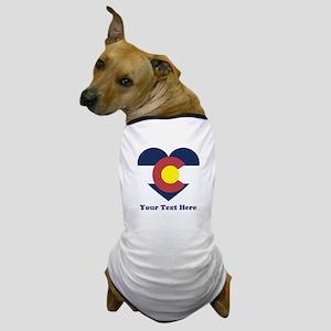 Colorado Flag Heart Personalized Dog T-Shirt