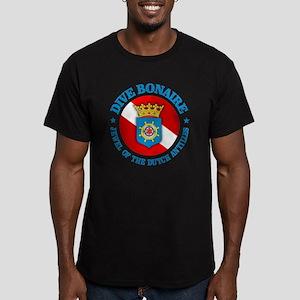 Dive Bonaire (rd) Men's Fitted T-Shirt (dark)