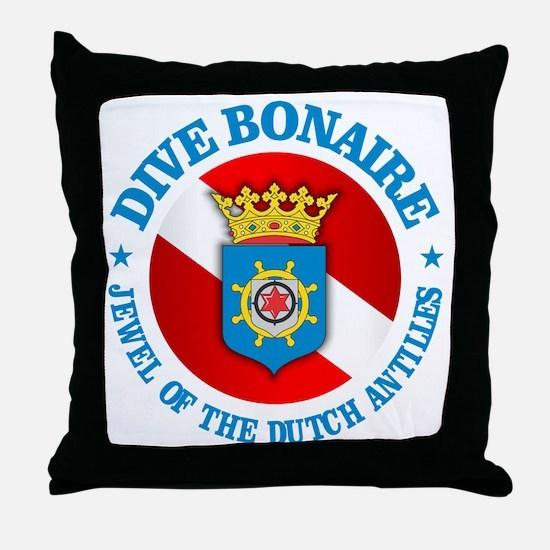 Dive Bonaire (rd) Throw Pillow