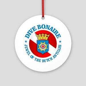 Dive Bonaire (rd) Round Ornament