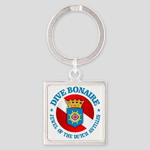 Dive Bonaire (rd) Square Keychain