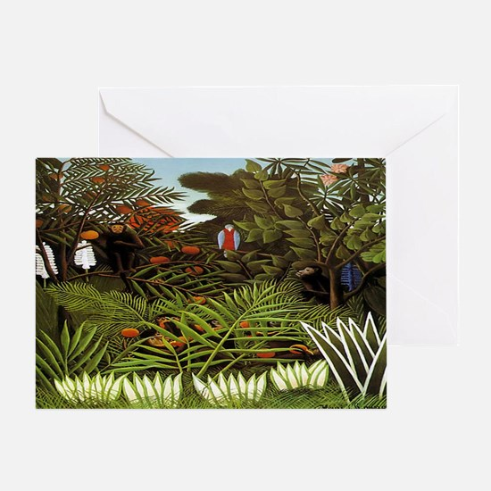 Exotic Landscape Greeting Card