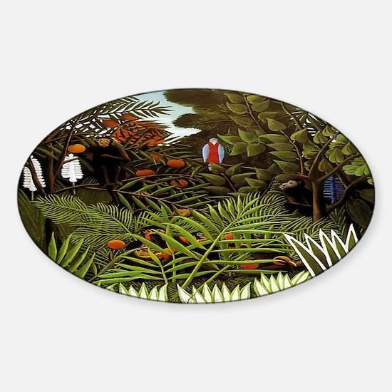 Exotic Landscape Sticker (Oval)
