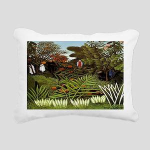 Exotic Landscape Rectangular Canvas Pillow