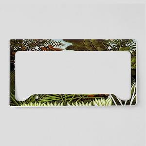 Exotic Landscape License Plate Holder