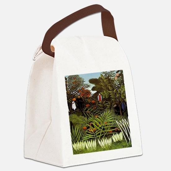 Exotic Landscape Canvas Lunch Bag