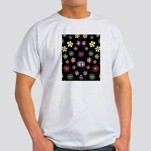 Pastel Daisies in Floral Pattern in  Light T-Shirt