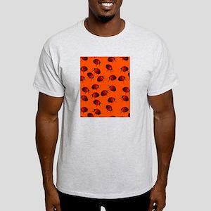 Many Ladybugs on Orange Light T-Shirt