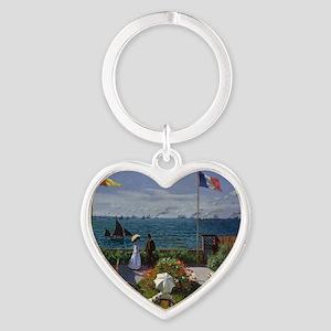 Jardin at Sainte Adresse Heart Keychain