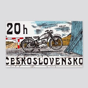 1975 Czech Strakonice Motorcycle Po 3'x5' Area Rug