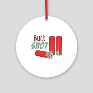 Buck Shot Ornament (Round)