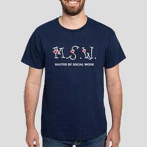 MSW Hearts (Design 2) Dark T-Shirt