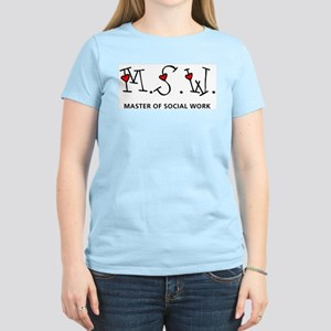 MSW Hearts (Design 2) Women's Light T-Shirt