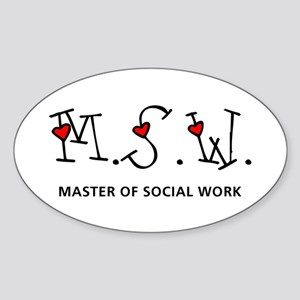 MSW Hearts (Design 2) Oval Sticker