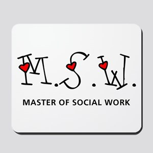 MSW Hearts (Design 2) Mousepad