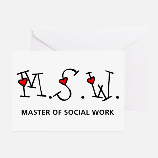 MSW Hearts (Design 2) Greeting Cards (Pk of 10