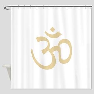 Yoga Ohm, Om Symbol, Namaste Shower Curtain