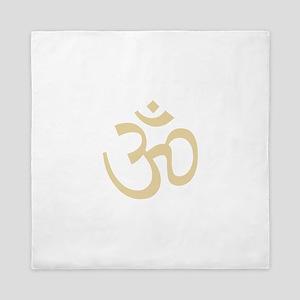Yoga Ohm, Om Symbol, Namaste Queen Duvet