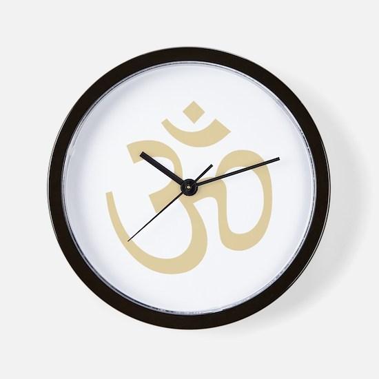Yoga Ohm, Om Symbol, Namaste Wall Clock