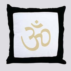 Yoga Ohm, Om Symbol, Namaste Throw Pillow