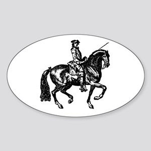The Baroque Horse Oval Sticker