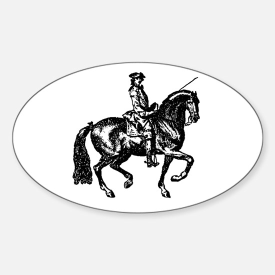 The Baroque Horse Oval Decal