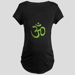 Yoga Ohm, Om Symbol, Namaste Maternity Dark T-Shir