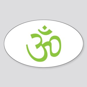 Yoga Ohm, Om Symbol, Namaste Sticker (Oval)