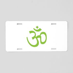 Yoga Ohm, Om Symbol, Namaste Aluminum License Plat